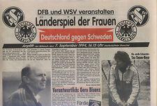 match de femmes 07.09.1994 Allemagne - Suède en Wolfenbüttel