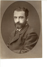 France, Léon Bonnat, peintre  Vintage print.  Photoglyptie  8x11  Circa 18