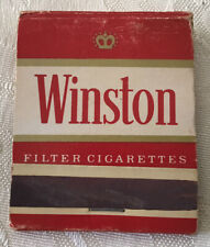Vintage WINSTON Cigarettes Matchbook W/Matches, Hoyle Cards Special Offer