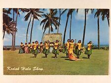 Kodak Hula Show Dancers Girls Waikiki Honolulu, Hawaii Chrome Postcard Unused