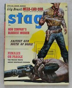 Stag V.8 #2 $80.00 (Feb 1957, Marvel) 8.5 VF+ AL ROSSI ART! Eva Lynd LILI BRAZIL