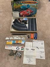 1962 Vintage STROMBECKER Slot Car Road Racing set #9950 2 cars Lot