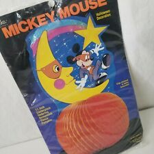 "Vintage Disney Mickey Mouse Halloween Honeycomb Pumpkin Centerpiece 11"" USA"