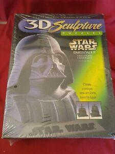 "Vintage 1997 Star Wars 3D Sculpture Puzzle Darth Vader 144 Layers 9.5"" High"
