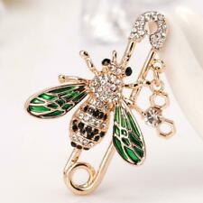 Fab Gold Honeycomb Lapel Pin Bumble Bee Diamante Crystal Brooch Broach Insect