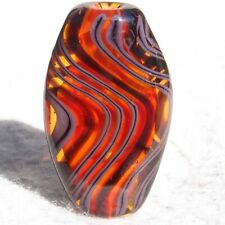 OSCILLATE Handmade Art Glass Focal Bead Flaming Fools Lampwork Art Glass SRA