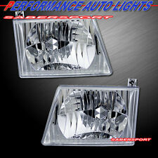 Set of Euro Clear Headlights for 1992-2004 Ford Econoline E150/250/350/450 Van