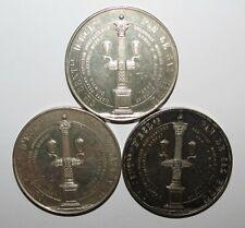 Rare Jeton Argent Silver lot de 3 x Electricité par le Gaz ,  36mm, total 63,7g