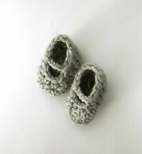 shoes for doll foot 3.5 cm 1.4 inch nutka_art handmade clothes crochet slippers