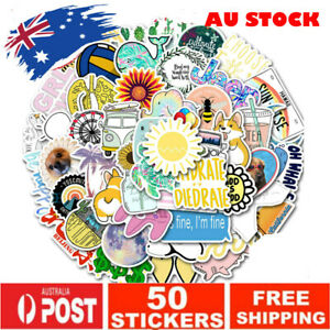 50pcs Cute INS-Style Sun Beach VSCO Vinyl Decal Stickers Bomb Laptop Joy Happy