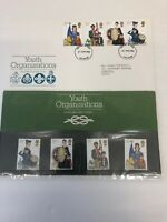FDC Youth Organisations 24/03/1982 PM Leicester & Mint Stamps Full Set In Pack