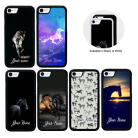 Horse Personalised Name Case for Apple iPhone 5 5s SE 6 6s 7 8 PLUS X XS MAX XR