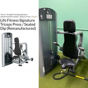 Life Fitness Signature Tricep Push Down Dip Extension