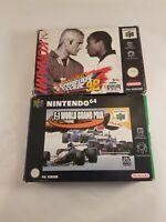 N64 Sports Game Bundle Pal (ISS 98 & F1 Grand Prix) - Nintendo 64 - Boxed Manual