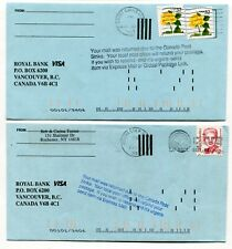 Canada / USA 1997 Postal Strike - Mail Service Suspended - Pair of Covers # 4