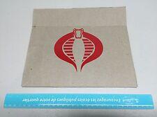 Cobra GiJoe sticker, red vinyl decal