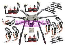 S550 F550 Carbon Fiber Hexacopter Frame Kit w/ 6 set 2212 920kv Motor M-30A 3M