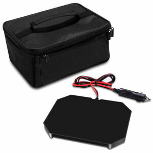 Portable Electric Food Warmer Heating Lunch Box Bag Mini Oven Container for Car