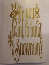 Do you want to build a snowman Wine Bottle Sticker vinyl decal Christmas