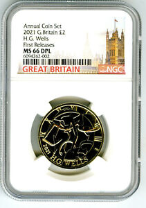 2021 GREAT BRITAIN 2PD H. G.WELLS NGC MS66 DPL FIRST RELEASES RARE