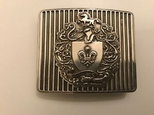 Rare,solid casted,Heraldic Crest ,Medieval,Military belt buckle .Silver plaited.