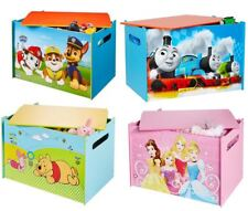 CHOOSE FROM CHILDRENS WOODEN TOY BOX: CHARACTER & DISNEY STORAGE, BEDROOM, CARS