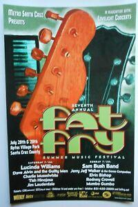 ORIGINAL 7th ANNUAL FAT FRY POSTER JERRY JEFF WALKER LUCINDA WILLIAMS SANTA CRUZ