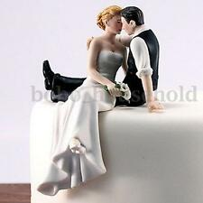 Romantic Bride and Groom Wedding Cake Topper Couple Hug Kiss Bridal Decoration
