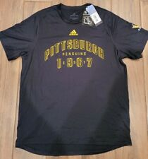NWT NHL Adidas Pittsburgh Penguins Creator Climalite Shirt Men's Size Large