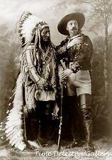 Sitting Bull and Buffalo Bill Cody - 1895 - Historic Photo Print