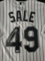 Chris Sale Signed Authentic White Sox Majestic Jersey PSA/DNA AUTHENTICATED