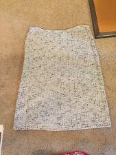 ST. JOHN COLLECTION Women Size 10 Zip Up White/black Weave Pencil Skirt