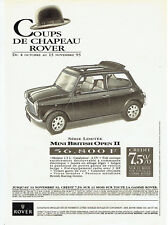 Publicité Advertising  078  1993   la Rover   Mini British Open II