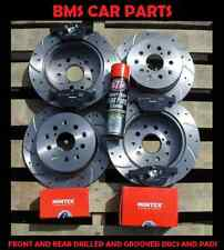 VAUXHALL INSIGNIA 2.0 CDTi FRONT AND REAR DRILLED & GROOVED DISCS & PADS & STP