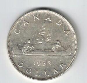 CANADA 1952 NWL VOYAGEUR SILVER DOLLAR KING GEORGE VI SILVER COIN