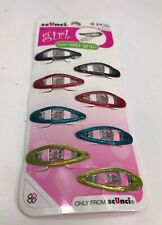 Scunci 8151403h048 Oval Clippies Assorted Colors 8 Count