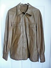 TONINO S/M Jacket Coat Glove Kid Leather Brown Handmade in Italy Softest Finest