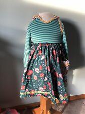 MATILDA JANE Once Upon A time Keepsake Chrissy Hooded Dress Size 8 Fall Euc