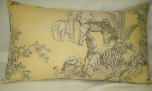 Lumbar African Toile Scalamandre Accent Throw Decorative Pillow Cover 12x20