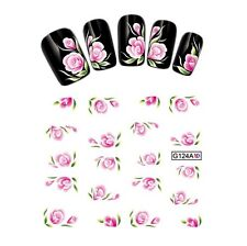 Nail Art Water Transfer Stickers-Decals Flowers-Tattoo Adesivi Unghie Fiori Rosa