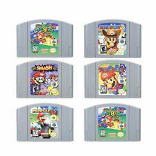 Super Smash Bros Mario Party 2 Marlo Kart Game Card 2 for Nintendo 64 Video