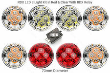 8 RDX LED STANDARD SIZE Light/lamps & Relay Defender 1994 onwards Red & Clear