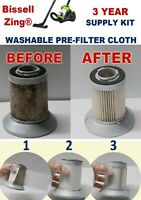 16 Washable Pre-filter Cloth For Bissell Zing Vacuum Cleaner KEEP FILTER CLEAN!