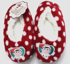 The Elf on the Shelf Slipper Size 2T-3T Red Polka Dots