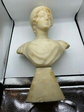 Late 19th Early 20th Century French Marble of a Young Woman