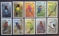 LIBERIA Beautiful Birds Complete MNH