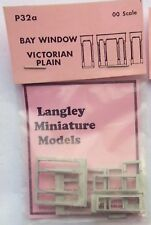 Langley Models 2 Bay Windows Victorian Plain OO Scale UNPAINTED Model Part P32a