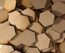 20x 30mm Hex MDF Wood Bases Laser Cut Crafts Wargames Miniatures FAST SHIPPING