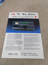AOR AR3030 brochure AND ar8600 ar-one ar8200 sdu-5600 multi page brochure