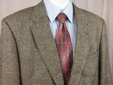 Vintage Tommy Hilfiger Black & Tan 2-Button Sport Coat Blazer Jacket Crest 44R